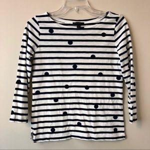 J. Crew Stripe and Polka Dot Shirt